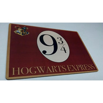 Harry Potter Placa Decorativa Plataforma 9,3quartos Hogwarts