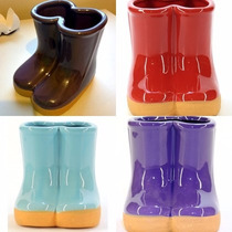 Vaso / Vasinho Cerâmica Galochas / Botinhas / Botas