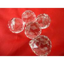 5 Esferas Cristal 30 Cm Montagem De Lustre