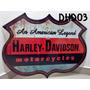Placa Decorar Garagem Harley Davidson American Legend Moto