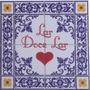 Placa Decorativa Azulejo Antigo Lar Doce Lar 31cm X 31cm