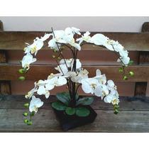 Arranjo Artificial Orquídea Com 6 Galhos Para Mesa De Jantar