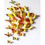 12 Borboletas Tridimensionais - Decoração Parede - Amarelas