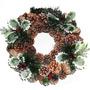 Guirlanda Natal Nevada Luxo Decorada Enfeites Coroa Flores