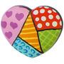 Puxador Coração Patchwork Em Resina