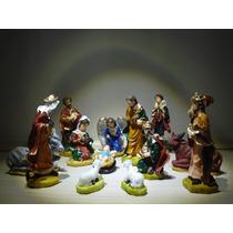 Presépio De Resina 14peças 12cm - Enfeites De Natal, Imagens