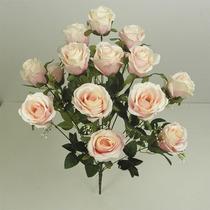 Bq C/18 Rosas Diversas Cores 60cm (03505) Flores Artificiais