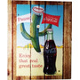 Quadro Retrô Coca Cola 2 Madeira Estilo Placa 19x23 Cm
