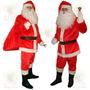Roupa De Papai Noel Em Veludo Para Enfeitar O Natal 7 Itens