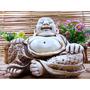 Buda Da Riqueza Decoração Felicidade Resina Estatua Dinhei
