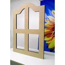 Janela Madeira Mdf - Decoração 85cm X 60,5cm