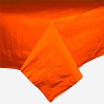Toalha De Mesa De Papel, Forro Plástico, Laranja, 1,4x2,7m