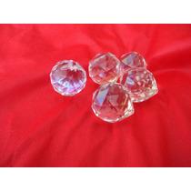 5 Esferas Cristal 40 Cm Montagem De Lustre