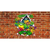 Painel Decoração De Festa Tartarugas Ninjas 2x1,50
