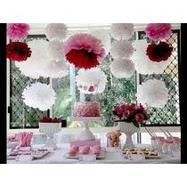 Balão Pompom Decorativo Em Papel Seda