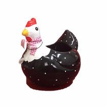 Galinha Cerâmica P/ovos Decorativa Pintura Artesanal Cozinha