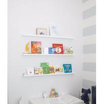 Prateleira Decorativa De Parede 60cm P/ Quadros E Livros
