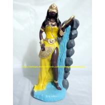 Escultura Mãe Oxum Linda Imagem 23cm Orixa Africano Oferta