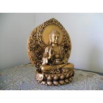 Buda Sakyamuni No Trono 17 Cm Cor Bronze