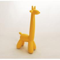 Escultura Balão Girafa Amarela (média)