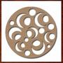 Quadro Escultura Parede Vazada Mdf Crú Mandala 60cm Ref.01