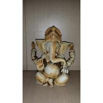 Ganesh Gordo Meditando 15cm Em Resina