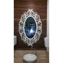 Moldura Para Espelho Em Escultura De Mdf Vazado Frete Gratis
