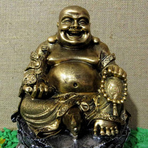 Buda Na Flôr De Lotus - Riqueza, Fortuna, Sorte - Grande