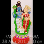 Estatua Em Gesso - Familia Ganesha
