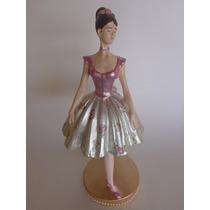 Bailarina Enfeite Bonecas Decoração De Festas Buffet