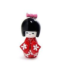 Boneca Kokeshi Vermelha Japonesa Chinesa Gueixa Hachi8