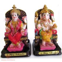 Lakshmi E Ganesh Deus Hindu Jg C/2 9cm