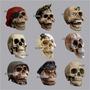 Cranio Em Resina - Caveira - Pirata - Esqueleto - Halloween