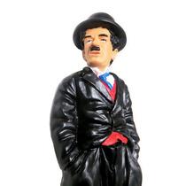 Boneco Charlie Chaplin Escultura Em Resina Decoração