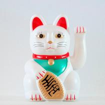 Gato Da Sorte Maneki Neko Grande Japão Japones China C/ Nf