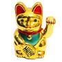 Gato Da Sorte Maneki Neko Dourado Japones China Decoração .