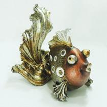 Peixe Decorativo Resina Enfeite Sala Vaso Estatueta Estátua