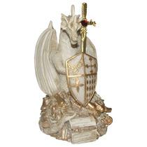 Guardião Da Riqueza Marfim- Espada-escudo-abridor De Cartas