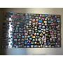 Mural Quadro Aço Inox,fixar Fotos Com Imãs Med. 61cm X 50cm