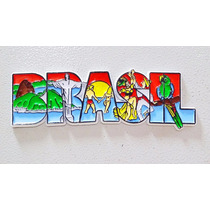 Imã Geladeira Emborrachado Linha Turística Brasil/ Souvenir