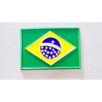 Imã Geladeira Emborrachado Bandeira Do Brasil/ Lembranças