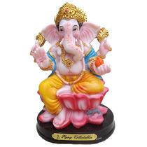 Escultura Deus Ganesh 16cm Em Resina - Decoração Indiana