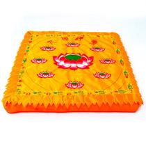 Almofada Quadrada Flor De Lotus Yoga E Meditação 47cm