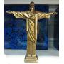 Miniatura Cristo Redentor Resina Pintura Bronze