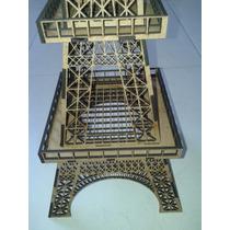 Torre Eiffel Em Mdf 3mm. 1,25 Metros Altura Para Montar