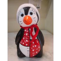 #1286# Pinguim Natalino Cerâmica Branca!!!