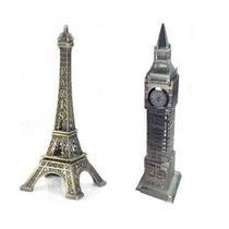 Torre Eiffel Em Miniatura - 26 Cm + Big Ben - 23 Cm