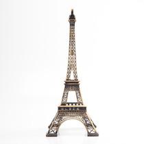 Miniatura Torre Eiffel Paris 38 Cm Metal Decoração Natal