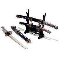 3 Espadas Katana Wakizashi Tanto Miniatura Samurai