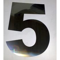 Número Residencial Casa Aço Inox 304 Espelhado Polido 20cm